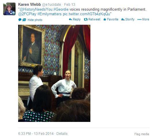 2FC_Karen Webb_Geordie voices RT_13Feb14_2
