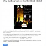 Why #votingmatters – Twitter chat 2 – Thank you!