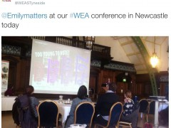 #Votingmatters at the WEA North East Region Spring Conference, 2015